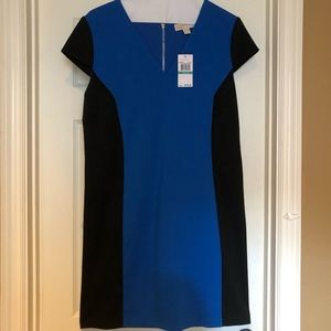 Michael Kors Blue & Black Block Color Dress. Sz 16